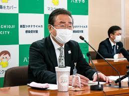 2021年度予算案を明らかにした石森孝志八王子市長.jpg
