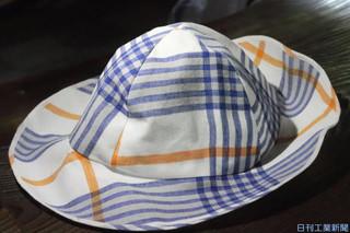 帽子に反射材を織り込み歩行の安全を確保しつつデザイン性も確保.jpg