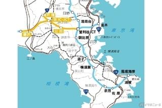 横浜横須賀道路「釜利谷JCT」と横浜環状南線、横浜湘南道路.jpg